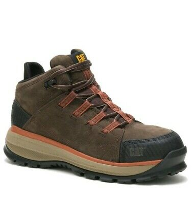 New Caterpillar - Cat Utilize - Mens Brown Alloy Toe Waterproof Wide Work Boots
