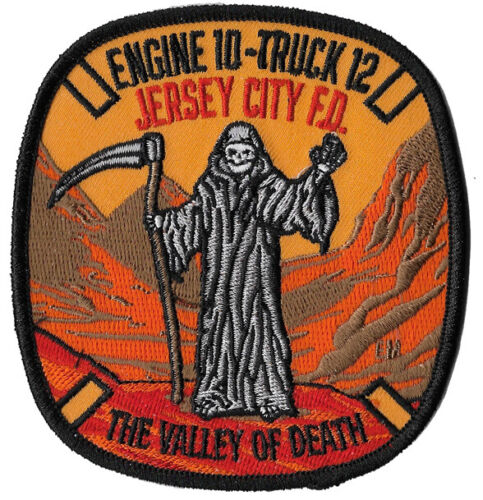 Jersey City, NJ Engine 10 Truck 12 NEW REAPER DESIGN Patch