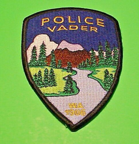 "VADER  WASHINGTON  1906  WA  5""  POLICE PATCH  FREE SHIPPING!!!"