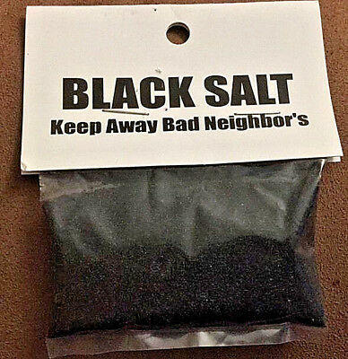 Black Salt 1 oz Witchcraft   Wicca Packet Keep Bad Energy Away! Free Shipping