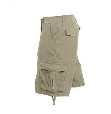 Vintage Khaki Infantry Utility Shorts - Rothco 2547 Khaki Vintage Infantry Utility Shorts