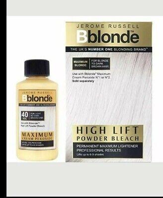 Jerome Russell Bblonde SET. Powder Bleach Sachets & Maximum Cream Peroxide 40vol