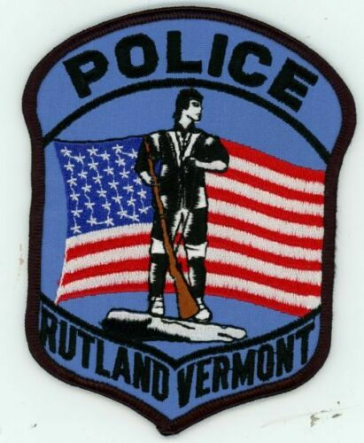 RUTLAND POLICE VERMONT VT NICE COLORFUL PATCH SHERIFF