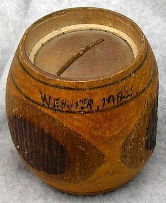 Webster Mass Souvenir Wooden Bank