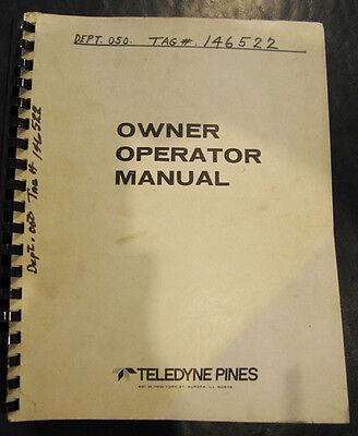 Pines Nc-1 Nc-2 Cybermat Iii Cnc Control Owner Operations Programming Manual