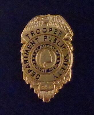 Alabama AL Dept of Public Safety TROOPER mini badge LAPEL PIN gold version