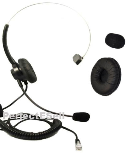Office Home Telephone Headset With RJ MOdular Plug for AT&T
