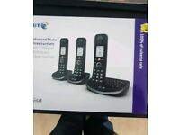 BT Triple Handsets Phones Brand New