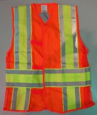Reflective Construction Safety Vest Class 2 Size Medium - Free Shipping