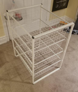 Ikea Antonius Wire Shelving Unit 4 drawers