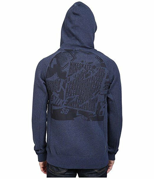 Nike SB Icon Ripped Pullover Hoodie Men's  Obsidian Black -
