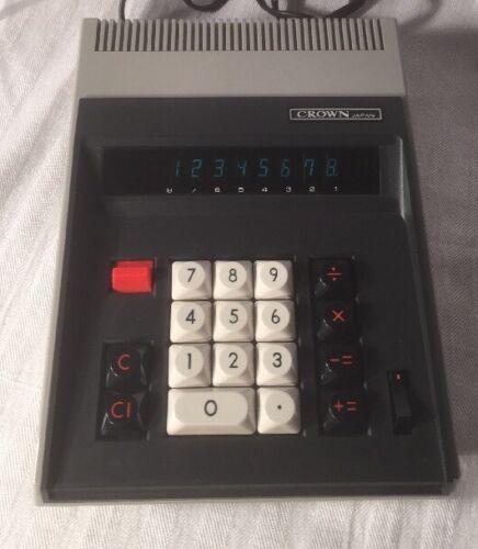 Vintage Crown Radio Corporation Japan Electronic Desktop Calculator CL-100 HTF