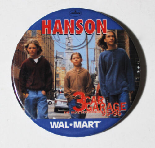 Hanson Wal-Mart vintage large pin badge 3 Car Garage 95-96