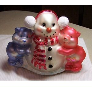 2004 large glass Care Bear centrepiece ornament in box