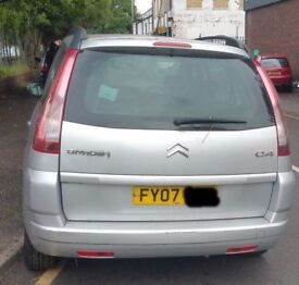 Citroen C4 Picasso Tailgate In Silver Breaking For Parts (2007)