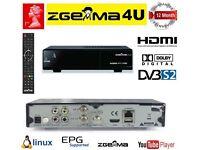 Zgemma H.2.S Satelitte Receiver, 12 Months Gift Warranty. (500gb HDD Optional)