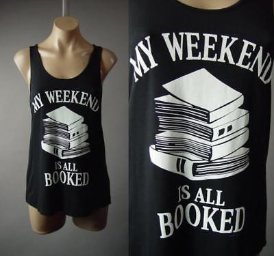 My Weekend Is All Booked Book Club Lover Bookworm Tank Top 239 Mv T Shirt S M L