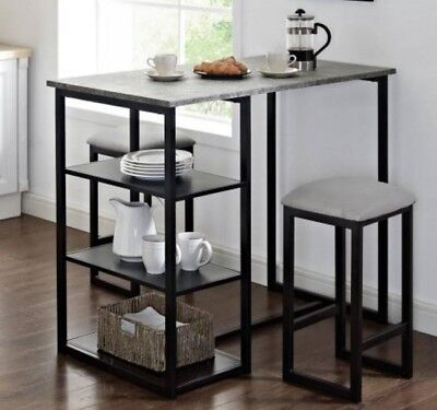 Pub Table Set Counter Height Tables Small Dining High Tall Kitchen High 3 Piece  ()