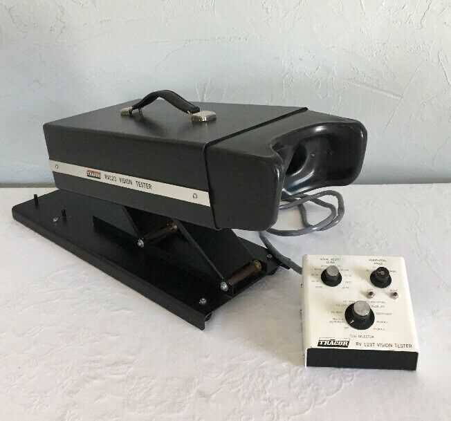 Vintage Vision Tester TRACOR RV123 Optometry Optical Vision Eye Screener