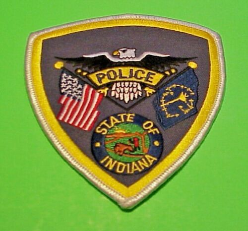 "INDIANA ( SILVER BORDER ) 4 1/2""  POLICE PATCH  FREE SHIPPING!!!"
