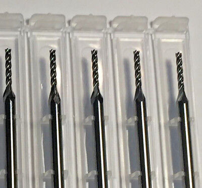 116 Dia X 12 Cut 4 Flute Square Carbide End Mill Made In Usa 5-pack D19