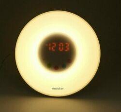 Amteker Wake-Up Light Alarm Clock With Sunrise Simulation And FM Radio Sounds