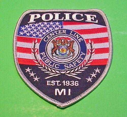 "CENTER LINE  MICHIGAN  EST. 1936  MI    POLICE PATCH  4 1/2""  FREE SHIPPING!!!"