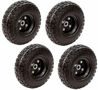10 No Flat Replacement Tire 58 Bore Wheel Hand Truck Garden Utility Cart 4-pk