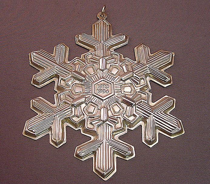 1994 GORHAM SNOWFLAKE STERLING CHRISTMAS ORNAMENT(S)