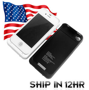 1900mA-External-Backup-Battery-Charger-Case-Black-OR-White-For-Iphone-4-4G-4S