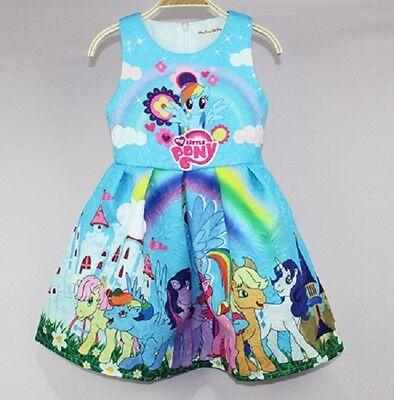 Little Girls Holiday Dresses ( Lovely Girls My Little Pony Sleeveless Party Holiday Birthday Dresses)