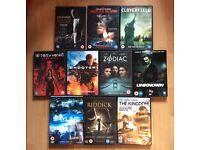 Job lot 10 DVDs horror/action/thriller (bundle #9)
