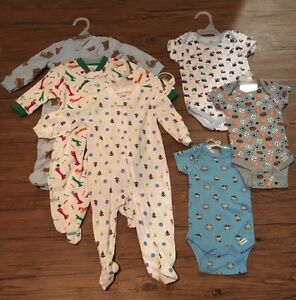 Baby Boy 3-6 Months Onesies and Sleepers NEW