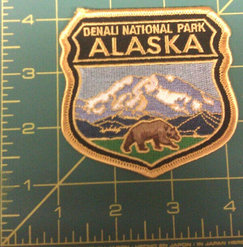 Embroidered Alaska Patch - Denali National Park and Bear - Mt. McKinley shield