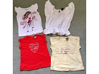 Bundle of Baby girl Tshirts , BabyGap and Tape a Aloleil