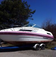 Great cabin cruiser boat with trailer $8000