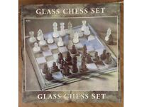 Glass Chess Set (mint condition)