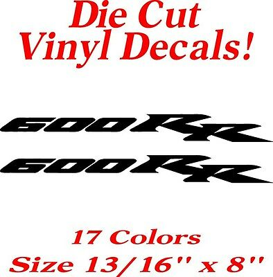 Set of 2 - Honda CBR 600 RR Vinyl Decals/Stickers - -