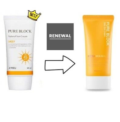 [A'PIEU] Pure Block Natural Daily Sun Cream SPF45/PA+++ 50ml