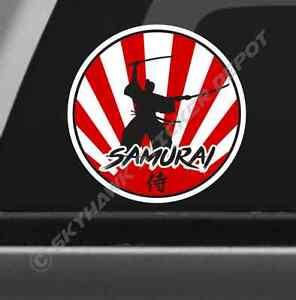 Rising Sun Samurai Vinyl Decal Bumper Sticker Honda Civic Acura
