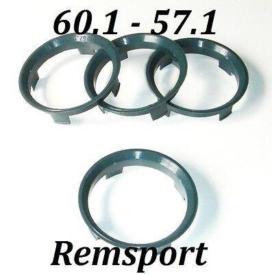 Spigot Rings 60.1mm Inovit Alloys for 57.1mm VW Fox Lupo
