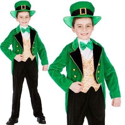 Childrens Deluxe Kobold Jungen Kostüm Kinder st Patricks Tag - St Patrick Kostüm Kinder
