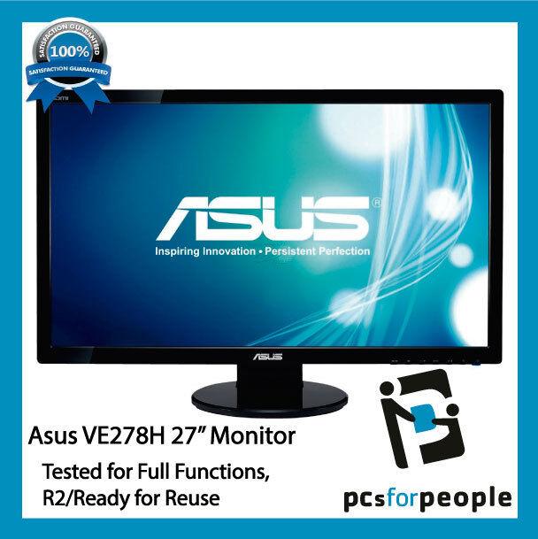 "ASUS VE278H 27"" Full HD LED  Monitor Speakers HDMI"