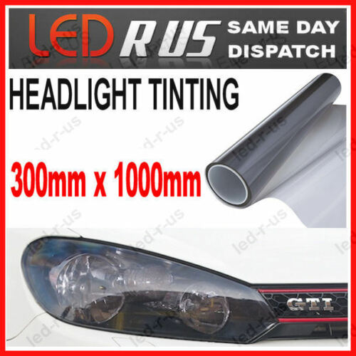 300mm x 1000mm SMOKED BLACK HEAD LIGHT TAIL FOG LAMP TINTING FILM VINYL WRAP #2