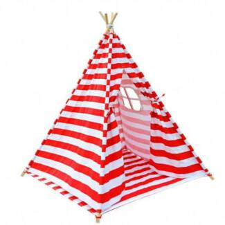 4 Poles Teepee Tent w/ Storage Bag Red - awesome adventure fun