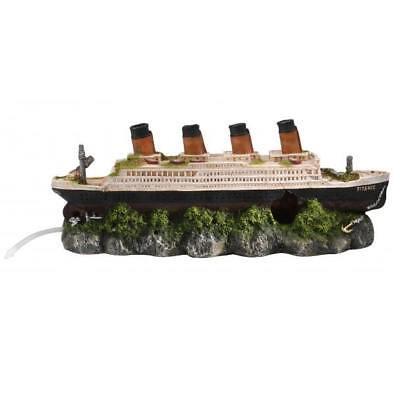 Schiffswrack Titanic luftbetrieben 39 cm mit Ausströmerstein - Aquarium Deko