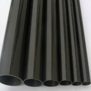 2pcs Roll Wrapped Carbon Fiber Tube 3K 10mm*12mm*500mm Glossy surface