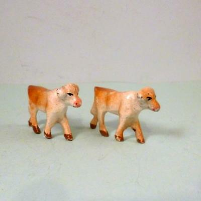 Vintage Aluminium Metal Farm WALKING CALVES Wend-Al 1948 56 Britains Era VGC