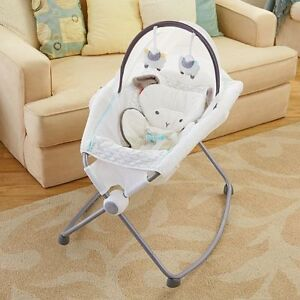 Lamb Rock and play sleeper with canopy