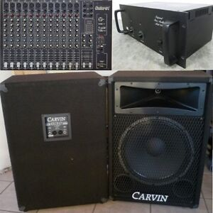 Complete PA - Mic - Mixer - BGW Power Amp - 15 & Horn Speakers